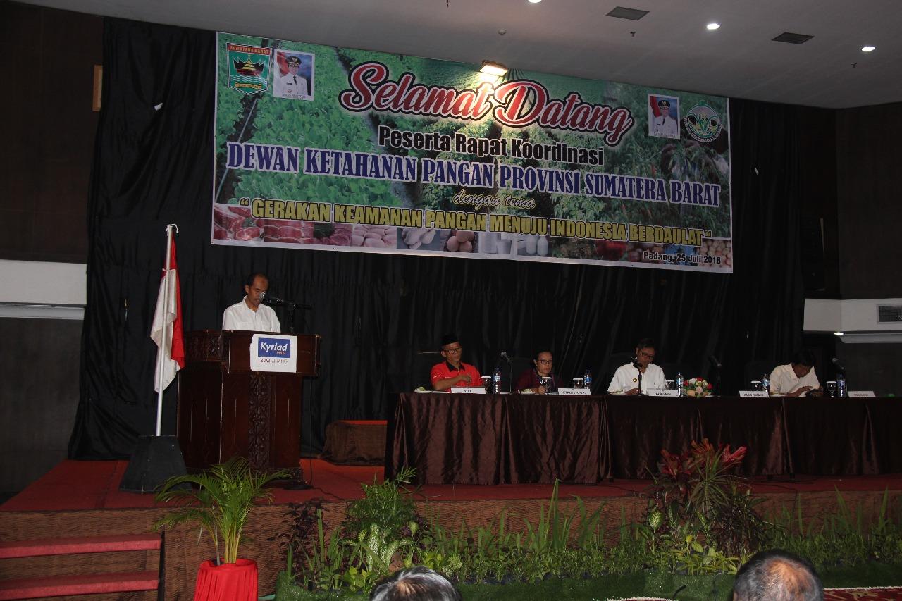 Gubernur Irwan Prayitno, Keamanan Pangan Aspek Penting Dalam Meningkatkan Kualitas SDM